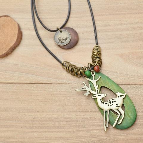 Womens Animal Alloy Vintage Sweater Necklace