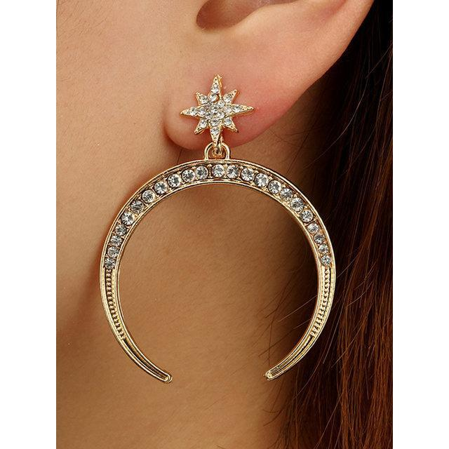 Womens Alloy Simple Earrings