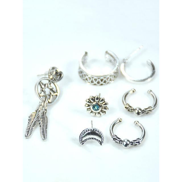 Womens Vintage Alloy One Set Earrings
