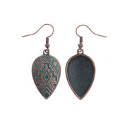Womens Vintage Alloy Heart Earrings
