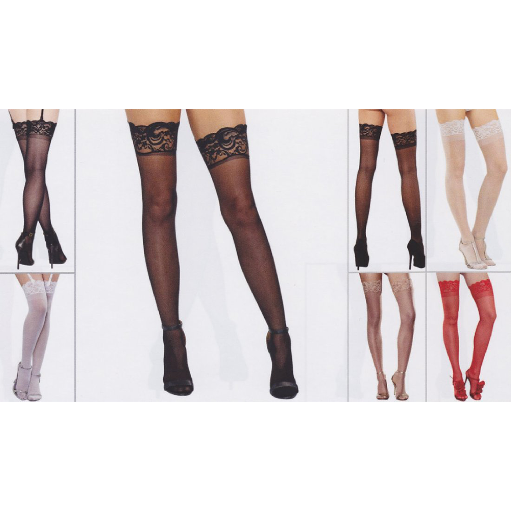 Sheer Thigh High Panty Hose - [collection] - Honeybunnies.com