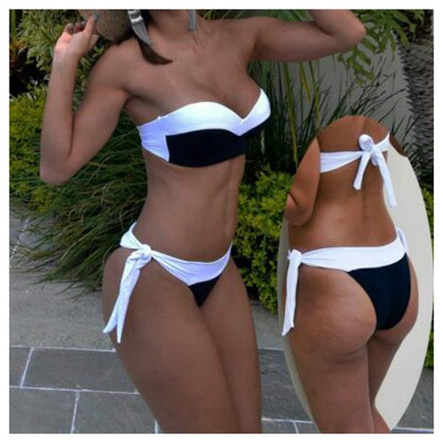 Thick Two-Piece Sash Bikini Set - [collection] - Honeybunnies.com