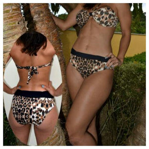 Leopard Print Two-Piece Bikini Set - [collection] - Honeybunnies.com