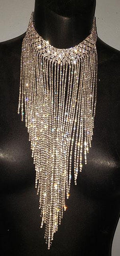 Dripping Silver & Gold Rain Necklace - [collection] - Honeybunnies.com
