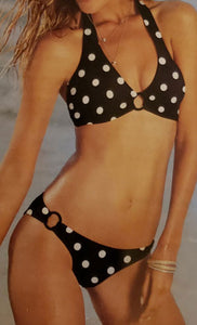 Vibrant Sexy Polka-Dot Two-Piece Suit - [collection] - Honeybunnies.com