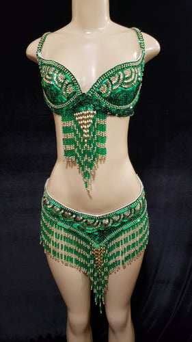 Belly Dancer Three Piece Skirt Set - [collection] - Honeybunnies.com