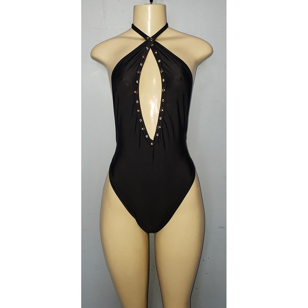 Black, Baby Got Back, One-Piece - [collection] - Honeybunnies.com
