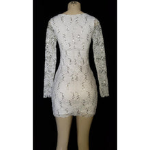 Load image into Gallery viewer, Long Sleeve Lace Short Dress - [collection] - Honeybunnies.com