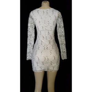 Long Sleeve Lace Short Dress - [collection] - Honeybunnies.com