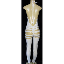 Load image into Gallery viewer, Slits Gold Trim White Jumper suit - [collection] - Honeybunnies.com