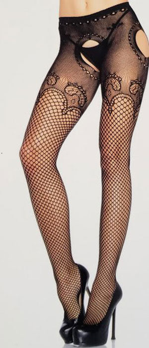 Industrial Net Suspender Panty Hose - [collection] - Honeybunnies.com