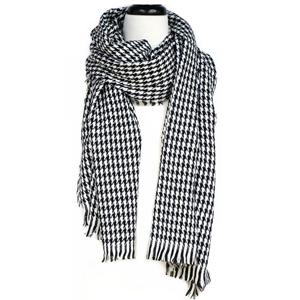 Two Tone Tile Print Scarf With Fringe - [collection] - Honeybunnies.com