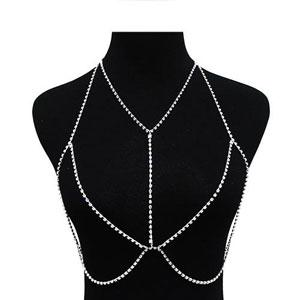 Delicate Y Crystal Line Body Chain - [collection] - Honeybunnies.com