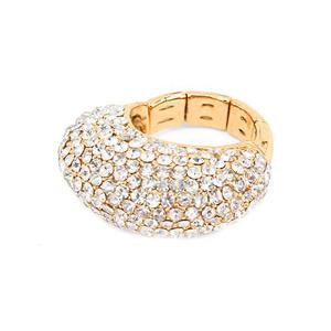 Chunky Pave Glass Stone Stretch Ring - [collection] - Honeybunnies.com