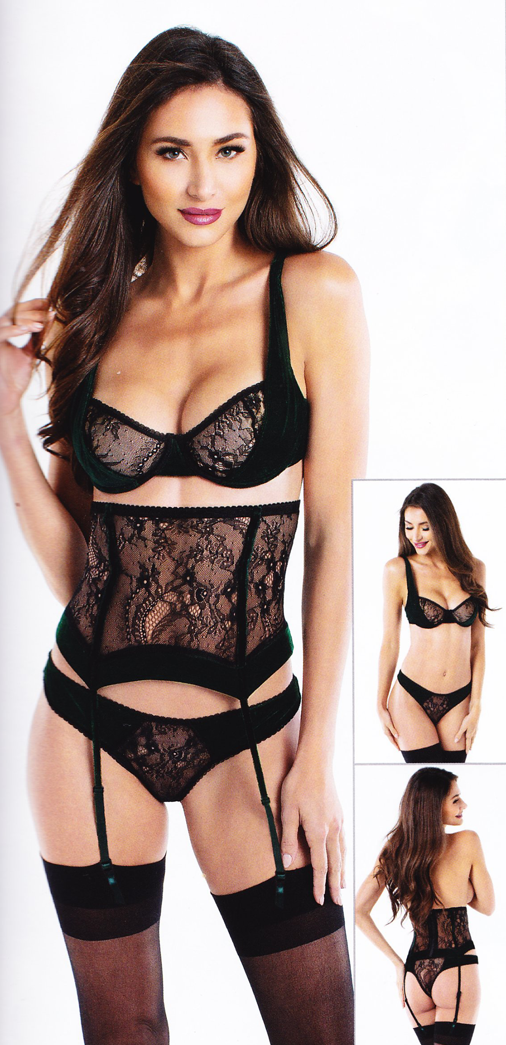 Two-Piece Lace Lingerie Set - [collection] - Honeybunnies.com