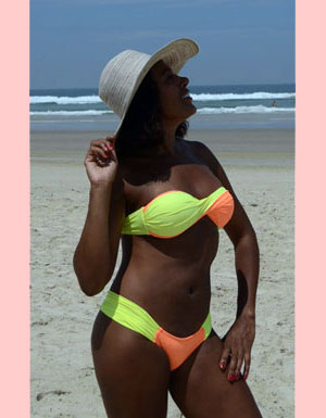 Two-Piece Yellow And Orange Bikini Set - [collection] - Honeybunnies.com