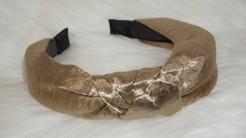Silk knotted headband