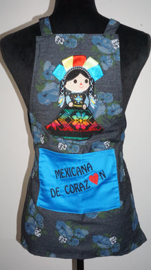 Mini Maria ..Mexicana de corazón ❤️ little Girls Apron.