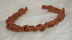 Silk thin twisted headband