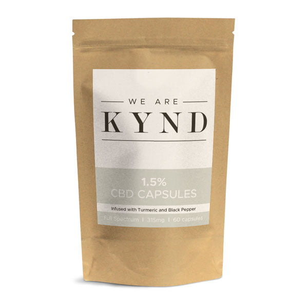 CBD Capsules 150mg (1.5%) Infused with Turmeric and Black Pepper - by We Are Kynd Ltd