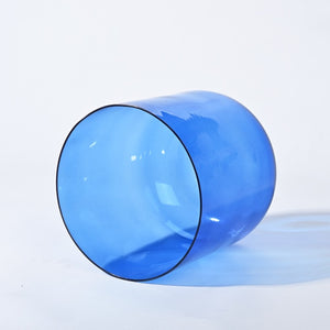 6 Inch Color Clear The Third-eye Chakra Crystal Singing Bowl for Meditation /Sound healing
