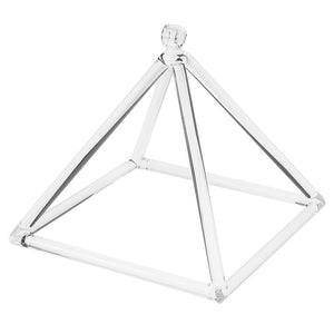Heal Musical Insrument Quartz Crystal Singing Bowl Pyramid D Note + Suede Mallet for Yoga Prayer - 8 Inch