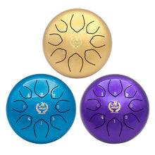 Percussion Instrument 6-inch Steel Tongue Drum Empty Spirit Worry Free Drummer Disc Drum Color Empty Drum Brahman Instruments