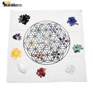 7 Chakra Healing Crystals Grids Kit W/Rose Quartz Pyramid Energy Generator,Clear Quartz Crystal Wand,Grid Altar Cloth