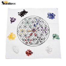 7 Chakra Healing Crystals Grids Kit W/7 Chakra Pyramid Energy Generator,Clear Quartz Crystal Wand,Grid Altar Cloth