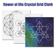 50 x 50 cm Large Crystal Grid Cloth Sacred Geometry Beautiful Healing Decor
