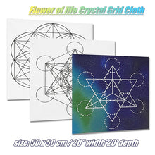 50*50cm Flower Of Life Crystal Grid Cloth Sacred Geometry Healing Tablecloth