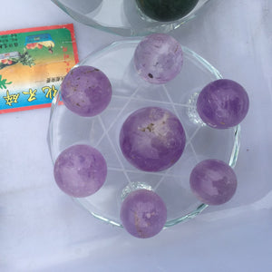 natural amethyst Crystal gemstone ball grid