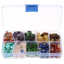Set 10 Kinds Stone Chakras Crystal Healing Tumbled Stones Decorative With Box