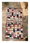 Boucherouite Moroccan handmade rug 1000 squares pastel colors