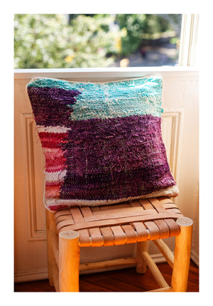 Kilim Boucherouite Pillow - Square