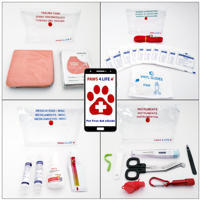 Pet First Aid Care Packs + eGuide App