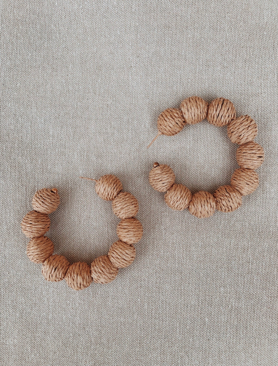 Abella Raffia Earrings