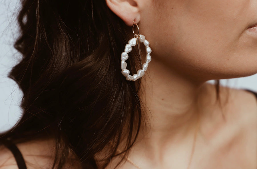 Bordeax Earring