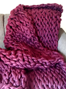 Extra Large Chunky Knit Throw | 150cm x 180cm