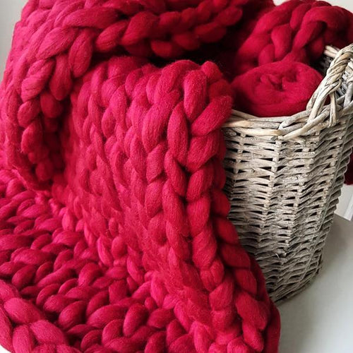 Super Chunky Wool - Cherry Red