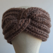 Ear Warmer with Twist - Chocolate