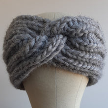Ear Warmer with Twist - Gray