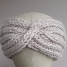 Ear Warmer with Twist - Natural