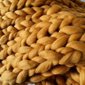 Butterscotch Chunky Wool Throw Blanket | Kasie Creates