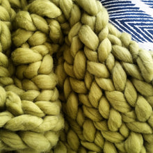 Bean Sprout Chunky Wool Throw Blanket | Kasie Creates