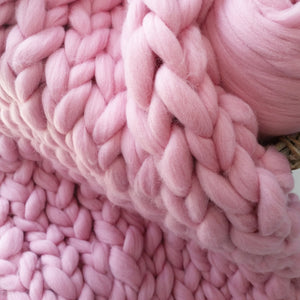 Cupcake Chunky Wool Throw Blanket | Kasie Creates