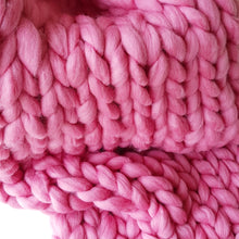 Candy Floss Chunky Wool Throw Blanket | Kasie Creates