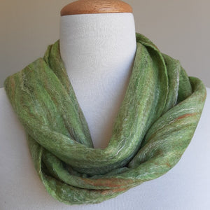 Merino Silk Scarf Avocado Light Green