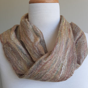 Merino Silk Scarf Cinnamon Light Brown