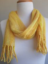 Merino Silk Scarf Citrus Yellow